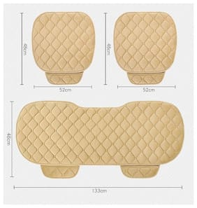 Elegant Caper CoolPad Car Seat Cushion Beige For Hyundai Grand I10 (Set of 3)