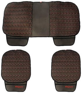 Elegant Caper CoolPad Car Seat Cushion Black and Red For Hyundai Xcent (Set of 3)