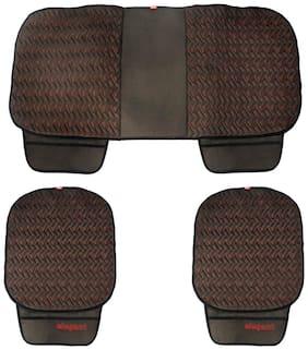 Elegant Caper CoolPad Car Seat Cushion Black Red For Mahindra TUV 300 (Set of 3)