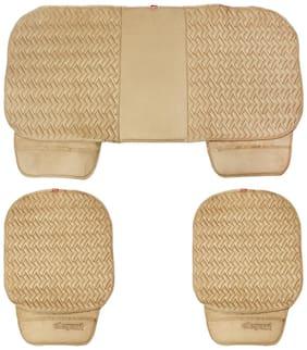 Elegant Caper CoolPad Car Seat Cushion Beige For Fiat Punto (Set of 3)