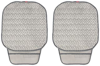 Elegant Caper CoolPad Car Seat Cushion Grey For Toyota Etios Cross (Set of 2)