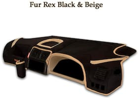 Elegant FurRex Black & Beige Car Dashboard Cover for Hyundai Getz
