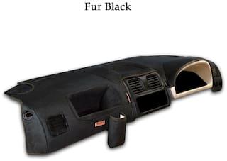 Elegant Fur Black Car Dashboard Cover for Maruti Suzuki Alto K10 [2014-2017]