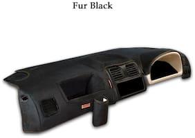 Elegant Fur Black Car Dashboard Cover for Hyundai Santro Xing