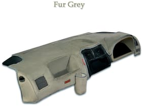 Elegant Fur Grey Car Dashboard Cover for Mahindra Scorpio OLD