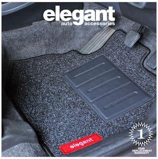 Elegant Carry Black Carpet Car Floor Mat For Hyundai i20 Elite (Set of 5 Pcs)