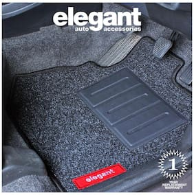 Elegant Carry Black Carpet Car Floor Mat For Hyundai Creta (Set of 5 pc)