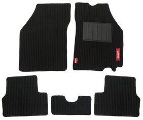 Elegant Cord Black Carpet Car Mats for Hyundai I20 Active (Set of 5 Pcs)