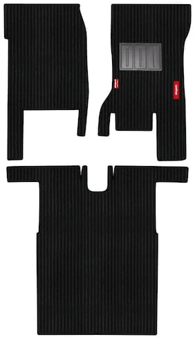 Elegant Cord Black Carpet Car Mats for Mahindra Thar (Set of 3 pc)