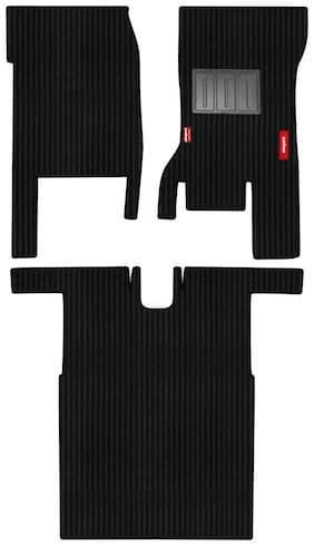 Elegant Cord Black Carpet Car Mats For Maruti Suzuki Eeco 5 Seater (Set of 3 pc)