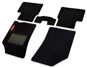Elegant Cord Black Carpet Car Mats for Hyundai Santro Xing (Set of 5 Pcs)