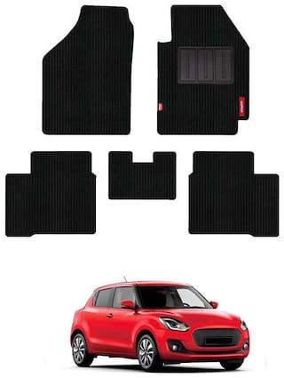Elegant Cord Carpet Car Floor Mats For Maruti Suzuki New Swift 2018-(Black)