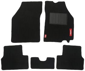 Elegant Cord Black Carpet Car Mats For Alto K10 (Set of 5 pc)