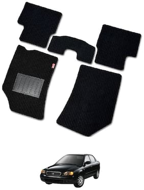 Elegant Cord Black Carpet Car Floor Mat For Maruti Baleno [2015-2017] - Set of 5 pc