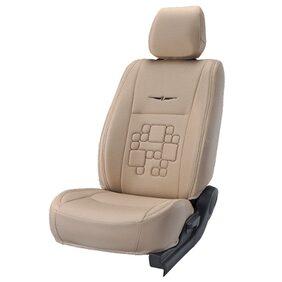 Elegant Fresco Ultra Beige Fabric Car Seat Cover For Toyota Fortuner (2009-2015)