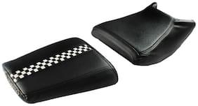 Elegant Gallop Style Black and White Twin Bike Seat Cover For Bajaj Dominar