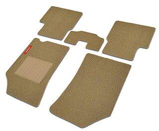 Elegant Grass Beige Carpet Car Mats For Mahindra KUV 100 (Set of 5 Pcs)