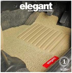 Elegant Grass Beige Car Floor Mat For Nissan Teana (Set of 5 pc)