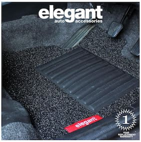Elegant Grass Black Car Floor Mat For Hyundai Creta (Set of 5 pc)