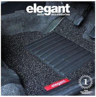 Elegant Grass Black Car Floor Mat For Maruti Suzuki Celerio (Set of 5 pc)