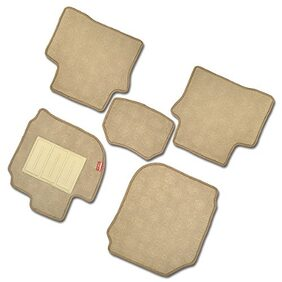 Elegant Jewel Beige Carpet Car Floor Mat For Honda WRV (Set of 5 Pcs)