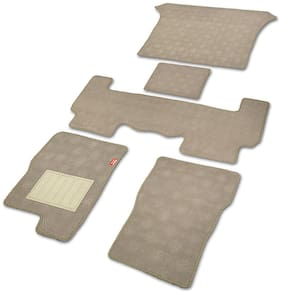 Elegant Jewel Beige Carpet Car Floor Mat For Mahindra Scorpio (Set of 7 pc)