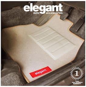 Elegant Jewel Beige Carpet Car Floor Mat For Honda City [2004-2009] - Set of 5 Pcs