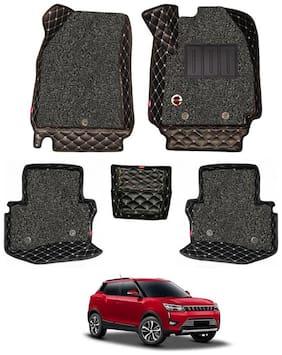 Elegant Luxury Leatherette 7D Car Mats For Mahindra XUV 300 ( Black )