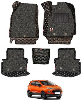 Elegant Luxury Leatherette 7D Car Mats For Ford Ecosport ( Black )