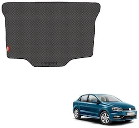 Elegant Magic Black PVC Car Dicky/Boot/Trunk Mats For Volkswagen Ameo