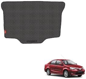 Elegant Magic Black PVC Car Dicky/Boot/Trunk Mats For Toyota Etios Cross