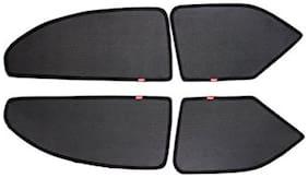 Elegant Magnetic Black Car Sun Shade For Chevrolet Sail U Va (Set of 4 Pcs)