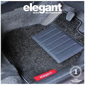 Elegant Miami Black Car Floor Mat For Tata Zest (Set of 5 pc)