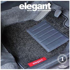 Elegant Miami Black Car Floor Mat For Hyundai Creta (Set of 5 pc)