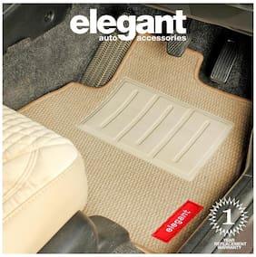 Elegant Popcorn Beige Carpet Car Floor Mat For Hyundai Eon (Set of 5 pc)