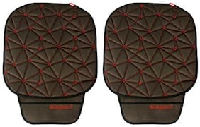 Elegant Space CoolPad Car Seat Cushion Black and Red For Chevrolet Beat (Set of 2)