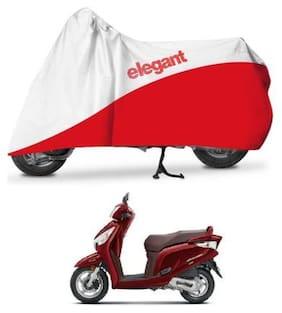 Elegant Two Wheeler Cover for Honda (Aviator;White;Red)