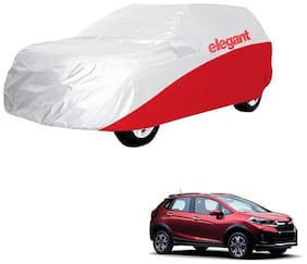 Elegant Waterproof Car Body Covers Compatible With Honda WRV-(White & Red)