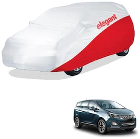 Elegant Waterproof Car Body Covers Compatible With Mahindra Marazzo-(White & Red)