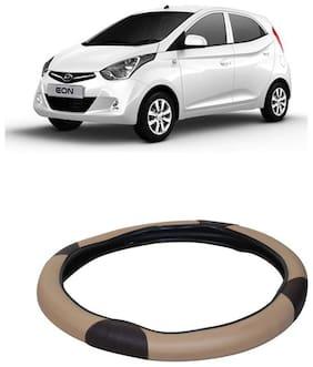 Eon Beige&Black Steering Cover