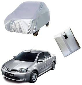 Etios silver car cover