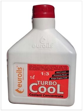 Euroils Euro Turbo Cool Coolant Concentrate Red for Cars Bus (1 L)