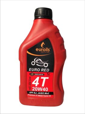 Euroils  Euro Red 4T 20W-40  API SJ Engine Oil for bikes scooty