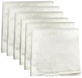 Ezee Multipurpose Microfiber Cleaning Cloth for Glass, Electronics, Home, Kitchen, Cars 360 GSM, 14 X 14 inch (White, Pack of 12)