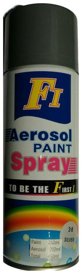 F1 Car Auto Multi Purpose Lacquer Spray Paint Silver