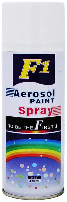 F1 Car Touchup Spray Paint 450 ml White-Chevrolet Aveo