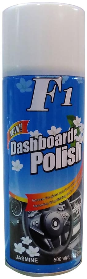 F1 Dashboard Wax Polish Spray And Shiner With Jasmine Fragrance 500 ml