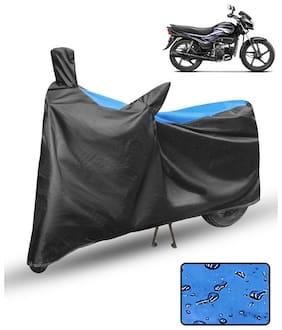 FABTCE Waterproof Motorcycle/ Bike Body cover For Hero Super Splendor Blue & Black Motorcycle Cover