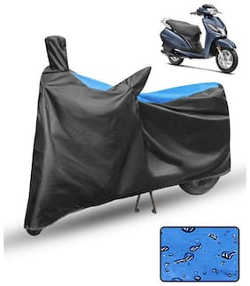 FABTCE Waterproof Scooty/Scooter Cover For Honda Activa 125 Blue & Black Scooty cover