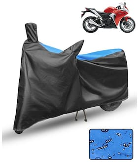 FABTCE Waterproof Motorcycle/ Bike Body cover For honda cbr 250r Blue & Black Motorcycle Cover